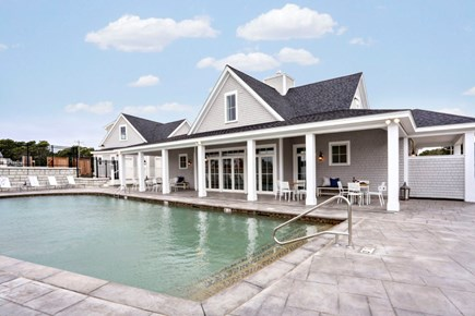 Dennis Port Cape Cod vacation rental - Clubhouse with saltwater pool. Inside the clubhouse is a gym