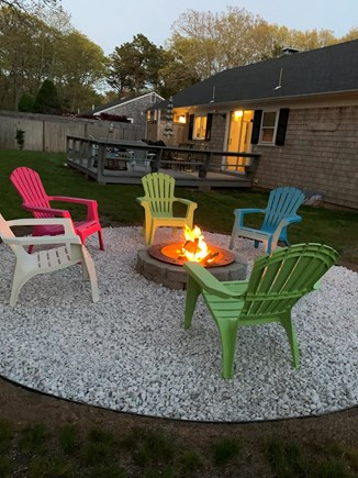 Hyannis Cape Cod vacation rental - No need to go anywhere! Enjoy fun evenings around the fire pit!