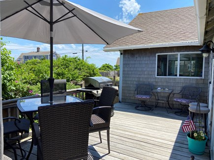 West Dennis Cape Cod vacation rental - Back deck with enclosed shower. Plenty of room for lounge chairs.