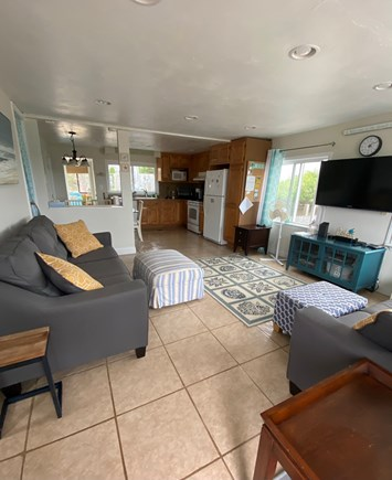 West Dennis Cape Cod vacation rental - Kitchen/living room