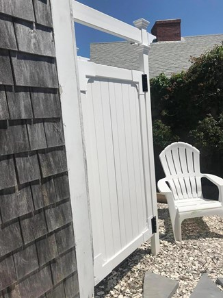 North Truro Cape Cod vacation rental - New outdoor shower and shell walkway