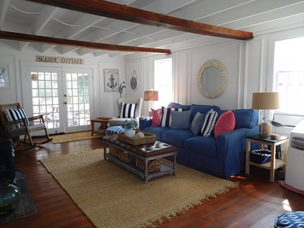 Dennis Cape Cod vacation rental - Living Room, French Doors Lead Out to Screened Porch