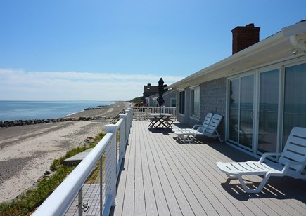 East Sandwich Cape Cod vacation rental - Deck View from this beachfront cottage
