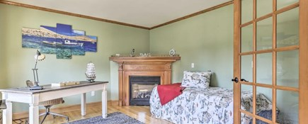 Onset MA vacation rental - Office with gas fireplace features 1st Flr sleeping  arrangement.