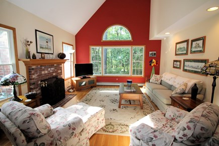 Wellfleet Cape Cod vacation rental - Open and bright living room with comfortable seating and TV