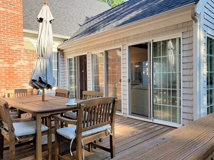 Wellfleet Cape Cod vacation rental - Nice deck w/teak table & chairs, Weber grill and outdoor shower