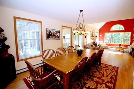 Wellfleet Cape Cod vacation rental - Large dining table with room for everyone