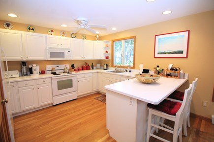 Wellfleet Cape Cod vacation rental - Bright and open kitchen with breakfast bar