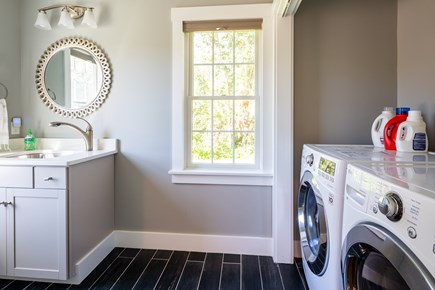Chatham Cape Cod vacation rental - Laundry room on main level with brand new washer and dryer