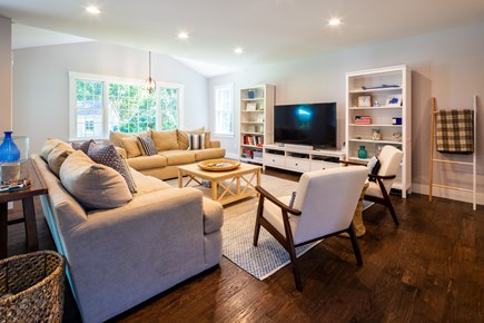 Chatham Cape Cod vacation rental - Comfortable sitting area with 65 inch LCD smart TV with cable