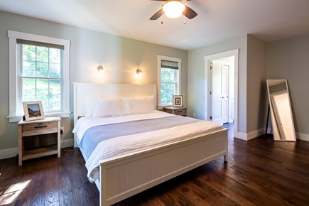 Chatham Cape Cod vacation rental - Master bedroom on first floor with king bed & en suite full bath