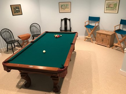 East Harwich Cape Cod vacation rental - Pool table in finished basement