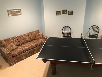 East Harwich Cape Cod vacation rental - Ping pong in finished basement