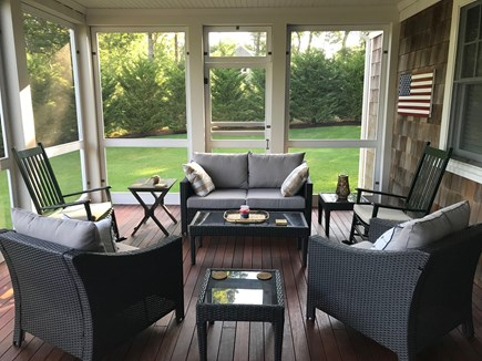 East Harwich Cape Cod vacation rental - Screened porch