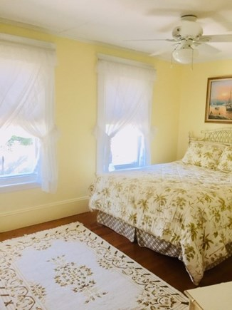 Falmouth Heights Cape Cod vacation rental - Bedroom #2 - Queen in Master BR w/ceiling fan & views of ocean.