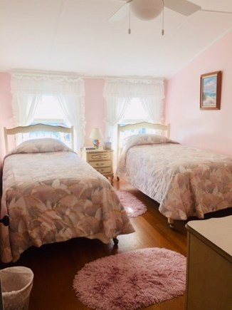 Falmouth Heights Cape Cod vacation rental - Bedroom #3 - 2 twin beds w/ceiling fan.