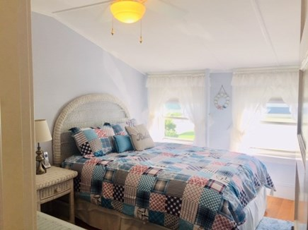 Falmouth Heights Cape Cod vacation rental - Bedroom #4 Queen bed w/ceiling fan.