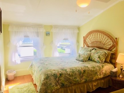 Falmouth Heights Cape Cod vacation rental - Bedroom #5 Queen bed w/ceiling fan.