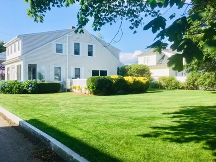 Falmouth Heights Cape Cod vacation rental - Rare double-lot backyard perfect to play and over-sized deck.