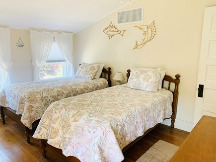 Falmouth Heights Cape Cod vacation rental - Bedroom #1 - 2 twin beds w/ceiling fan.