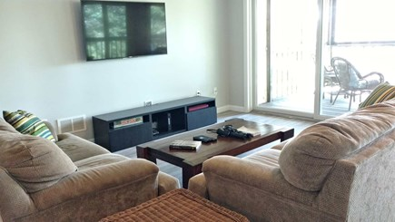 Wellfleet Cape Cod vacation rental - Lower level family room with flat screen TV