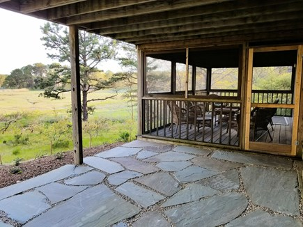 Wellfleet Cape Cod vacation rental - Patio leads to screened-in porch