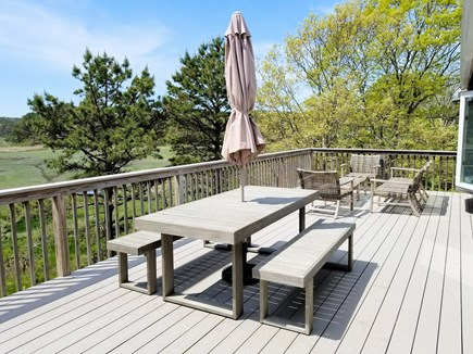 Wellfleet Cape Cod vacation rental - Large deck with comfortable furniture and amazing views