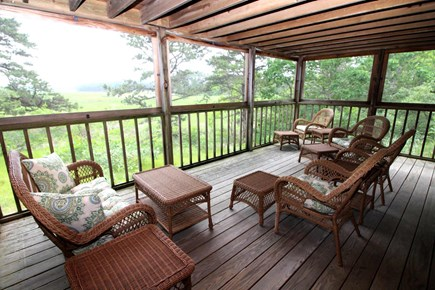 Wellfleet Cape Cod vacation rental - Lovely screened in porch off lower level