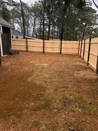 South Yarmouth Cape Cod vacation rental - Private Backyard...Fire pit ready June 14th, 2020