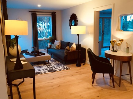 Wellfleet Cape Cod vacation rental - Sitting room off main room has a second deck with grill and table