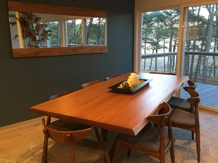 Wellfleet Cape Cod vacation rental - Dining table for 7 off of well appointed kitchen