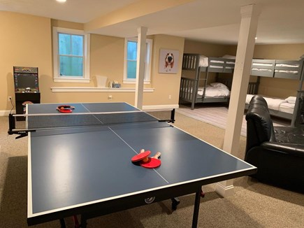 Chatham Cape Cod vacation rental - Ping pong table in game room with two sets of bunk beds