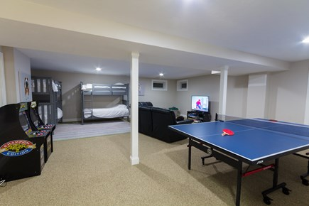 Chatham Cape Cod vacation rental - Basement w/2x arcades, ping pong table, and entertainment center)