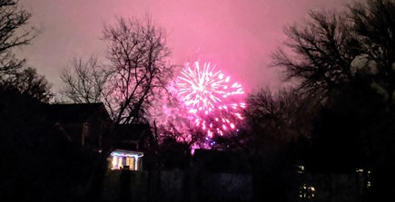 Chatham Cape Cod vacation rental - New Year's fireworks from the backyard