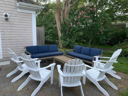 Chatham Cape Cod vacation rental - Outdoor seats for everyone, including kids picnic table