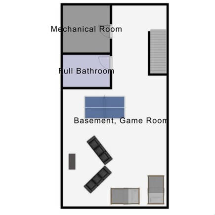 Chatham Cape Cod vacation rental - Basement Floor Plan