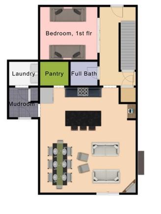 Chatham Cape Cod vacation rental - 1st Floor Plan