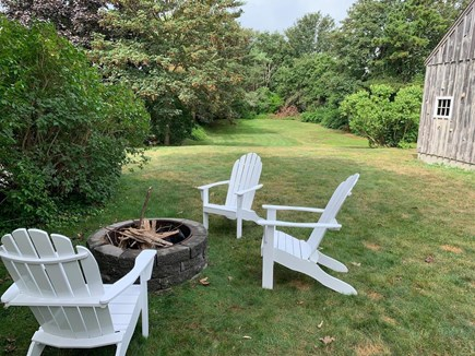 Chatham Cape Cod vacation rental - Roast marsh-mellows in the fire pit; yard great for sports/games