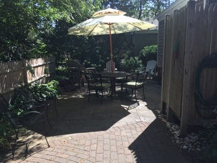 West Yarmouth Cape Cod vacation rental - Back patio - outdoor shower, gas grill, plenty of seating