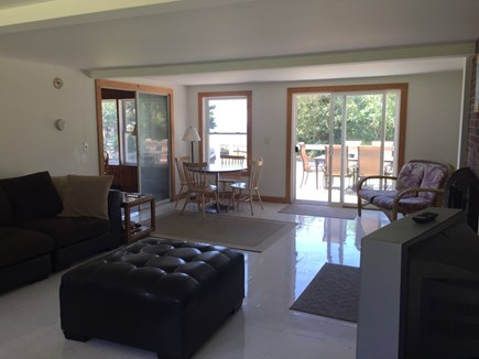 Bourne, Scraggy Neck Cape Cod vacation rental - Breezy Sunroom with extra seating,TV and DVD player