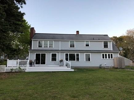 Bourne, Scraggy Neck Cape Cod vacation rental - Plenty of yard and deck space for the entire family, fenced yard