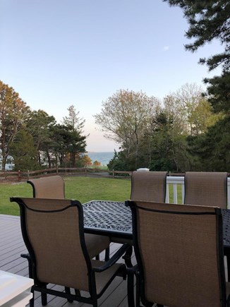 Bourne, Scraggy Neck Cape Cod vacation rental - Beautiful ocean view from the deck