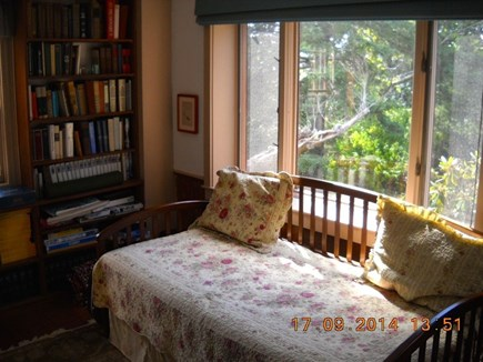 Wellfleet, Pine Point Cape Cod vacation rental - Study with comfortable day bed and great view.  Books and games.