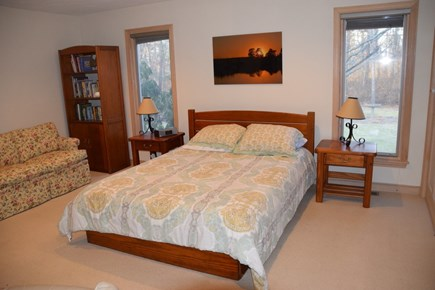 East Falmouth Cape Cod vacation rental - Queen bedroom on first floor with Cable & Flatscreen