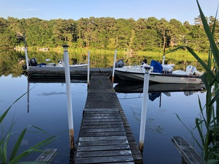 East Falmouth Cape Cod vacation rental - Use our dock on the Moonakis River to fish and access Waquoit Bay