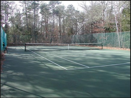 East Falmouth Cape Cod vacation rental - Tennis Court--fifty yards from our back yard gate