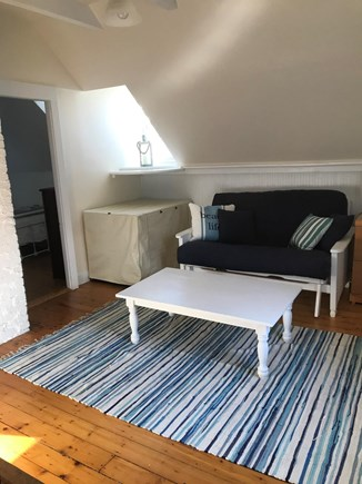 North Eastham Cape Cod vacation rental - Upstairs sitting area with futon and tv w/ Amazon fire stick.