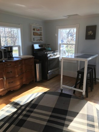 North Eastham Cape Cod vacation rental - Gas stove, microwave, coffeemaker.