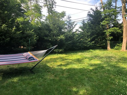 North Eastham Cape Cod vacation rental - Quiet spot in the back with hammock.