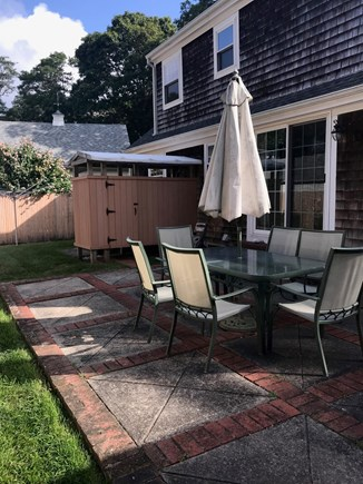Falmouth Heights Cape Cod vacation rental - Patio and outdoor shower.